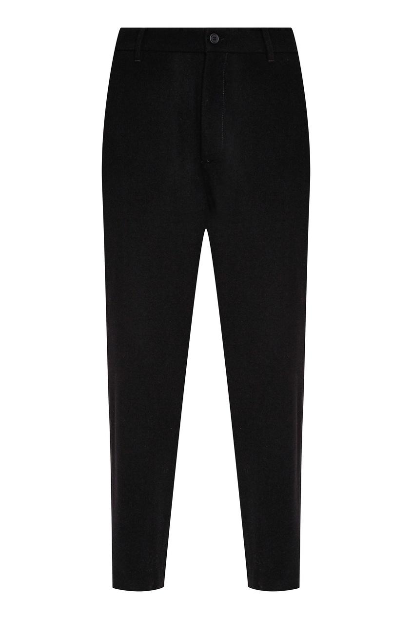 мужские шерстяные брюки dirk bikkembergs, черные
