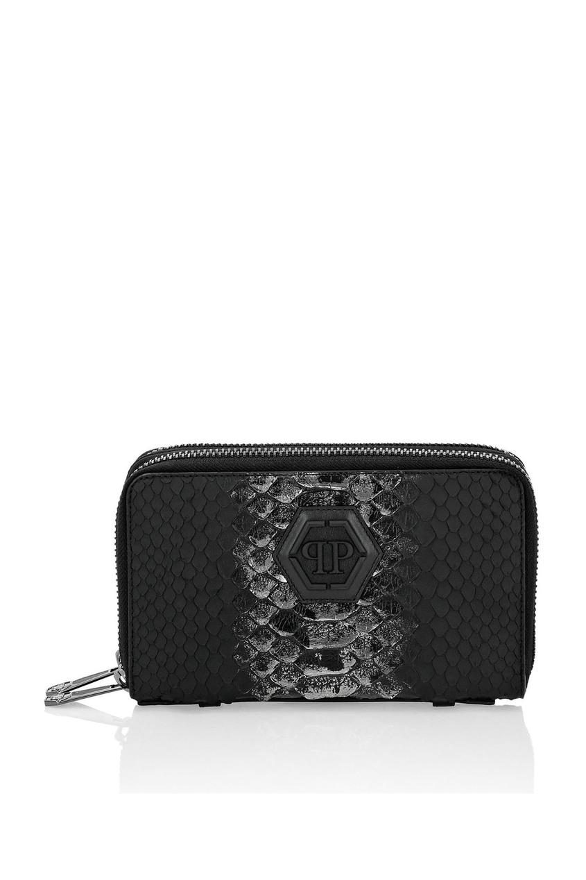 мужской кошелёк philipp plein, черный