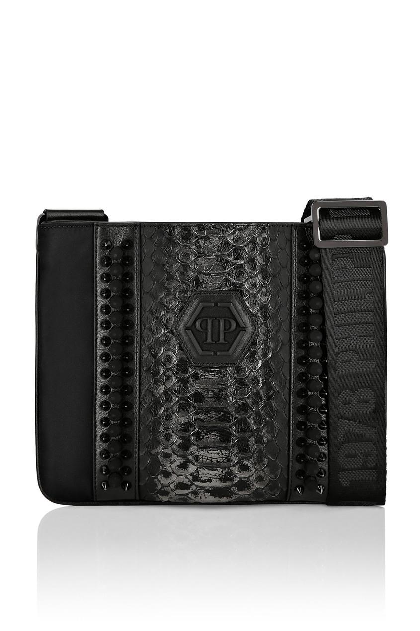 мужская сумка philipp plein, черная