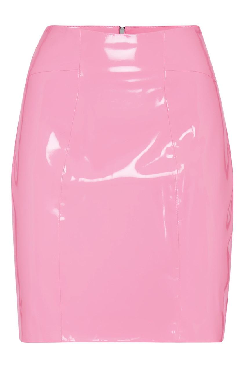женская юбка мини philipp plein, розовая