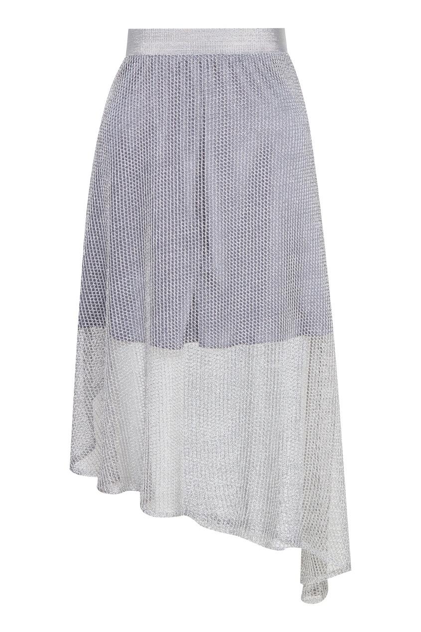 женская асимметричные юбка artem krivda, серебряная