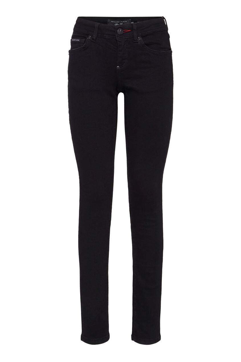 женские джинсы скинни philipp plein, черные