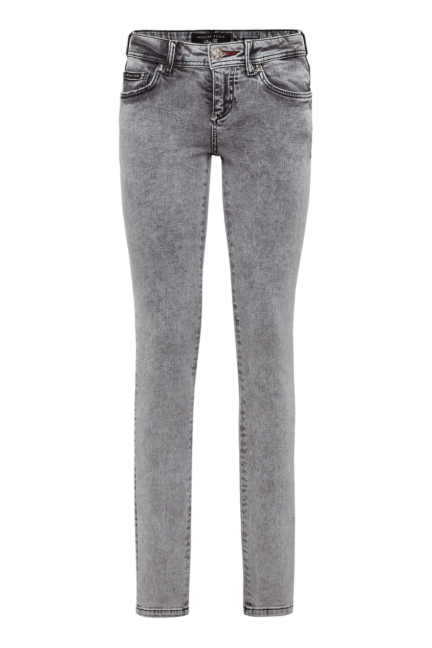 женские джинсы philipp plein, серые