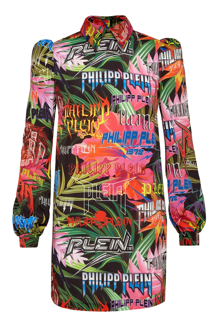 женское платье мини philipp plein