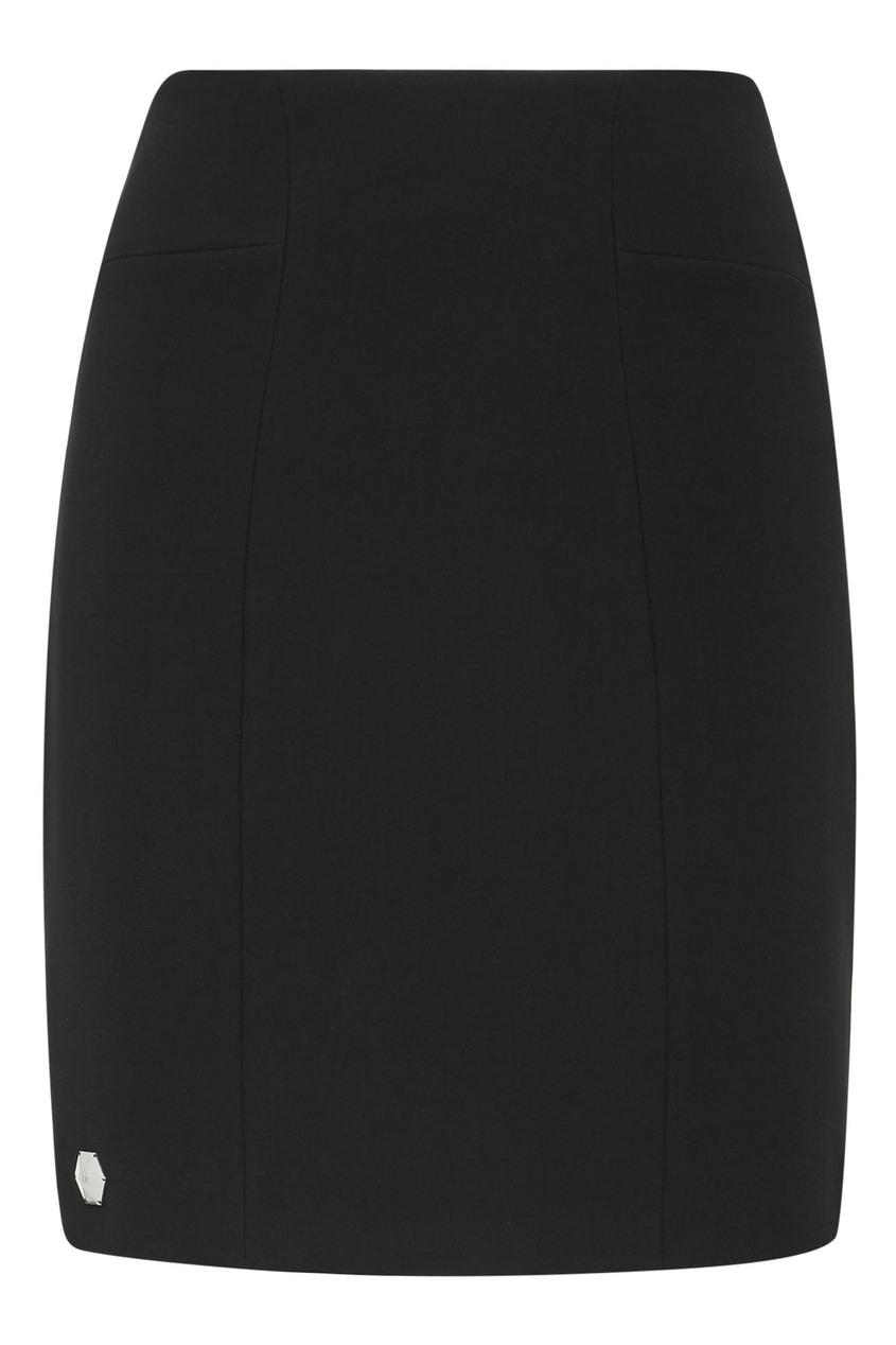 женская юбка мини philipp plein, черная
