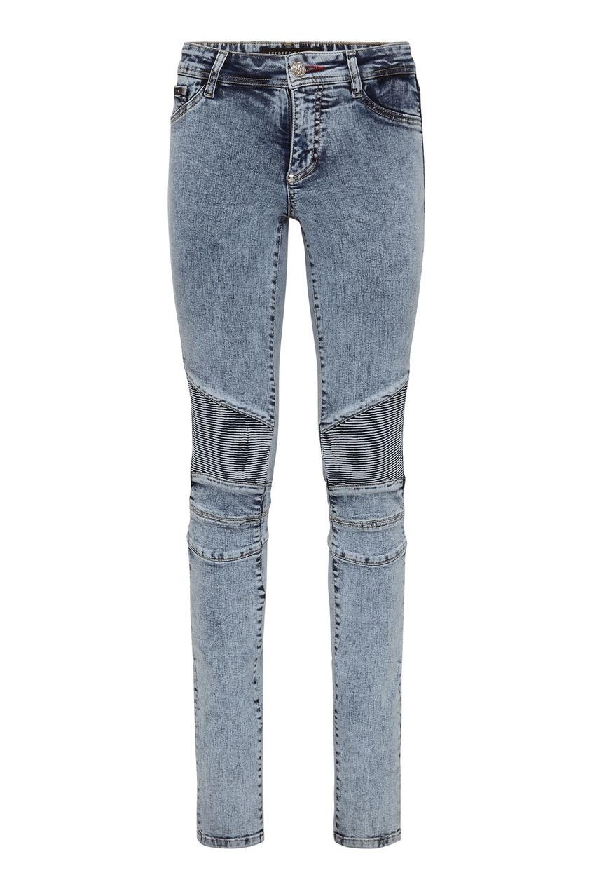 женские джинсы philipp plein, голубые