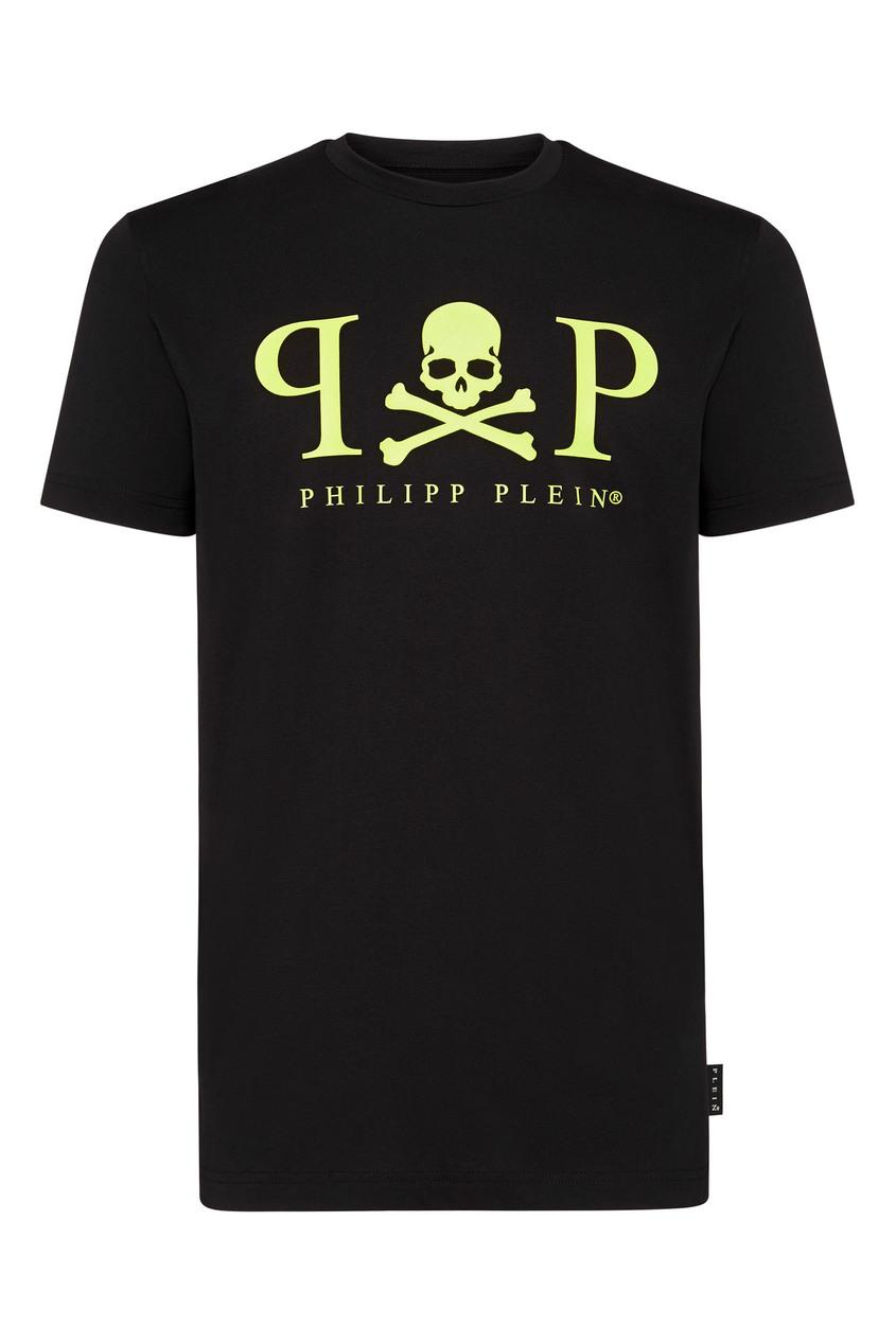 мужская футболка philipp plein, черная
