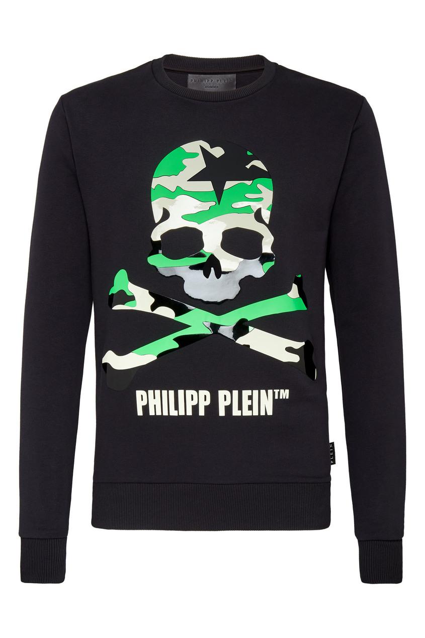 мужской свитшот philipp plein, черный