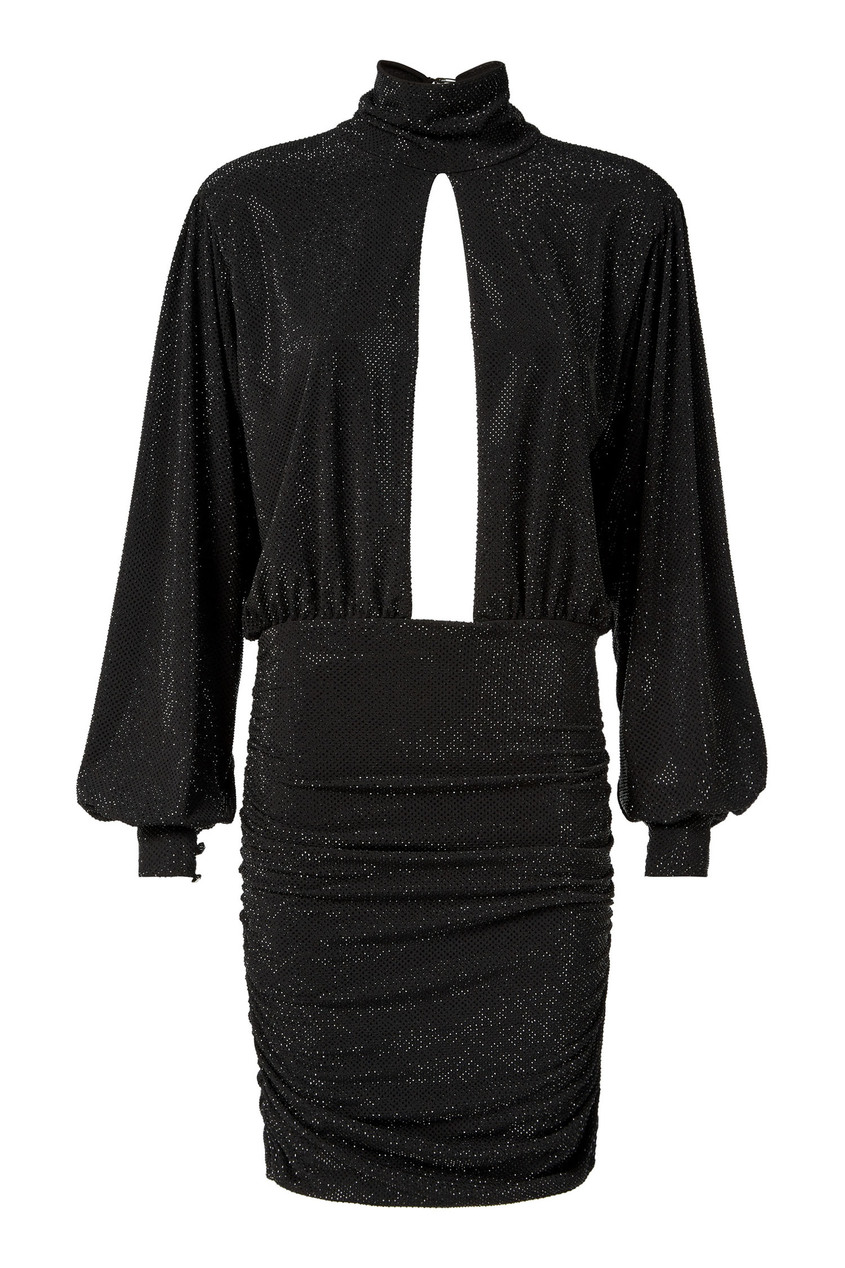 женское платье philipp plein, черное
