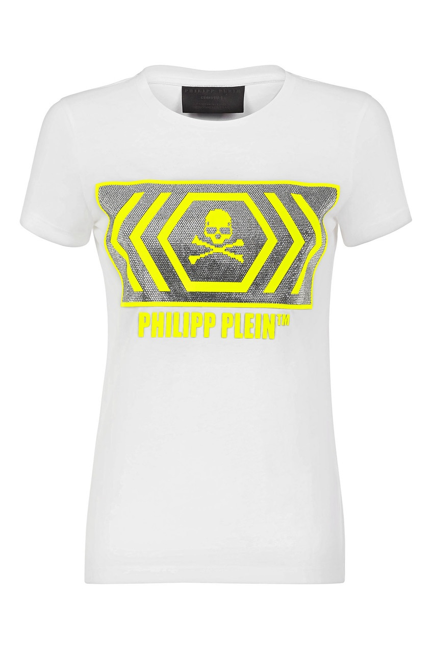 женская футболка philipp plein, белая