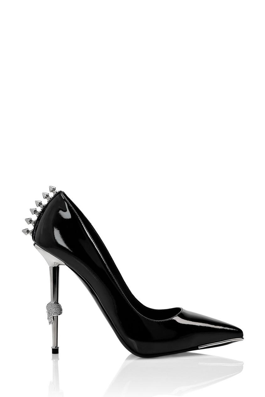 женские туфли philipp plein, черные