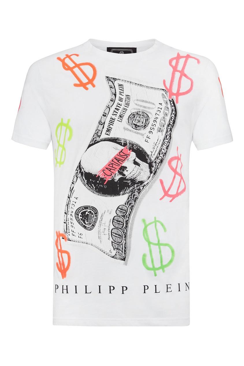 мужская футболка philipp plein, белая