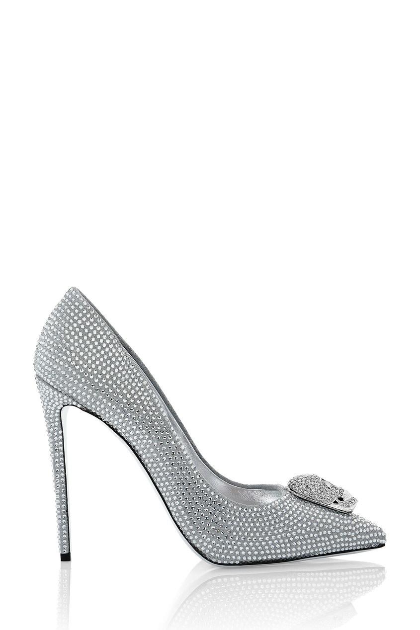 женские туфли philipp plein, белые