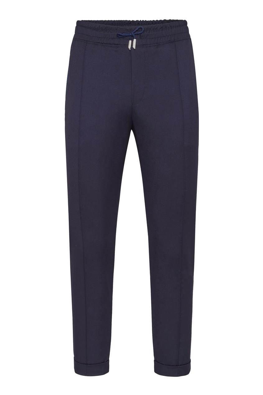 мужские кожаные брюки billionaire, синие