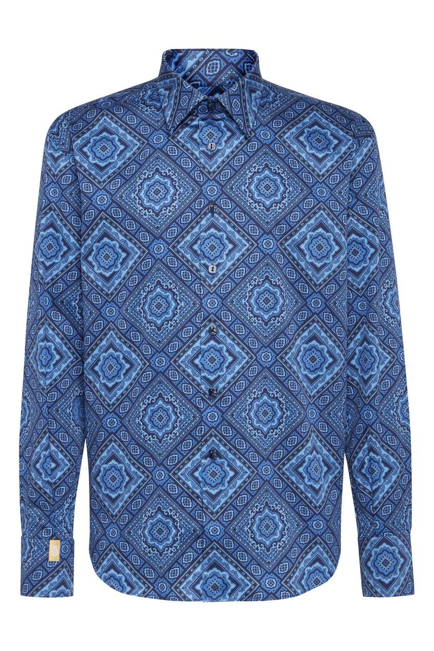 мужская рубашка billionaire, синяя