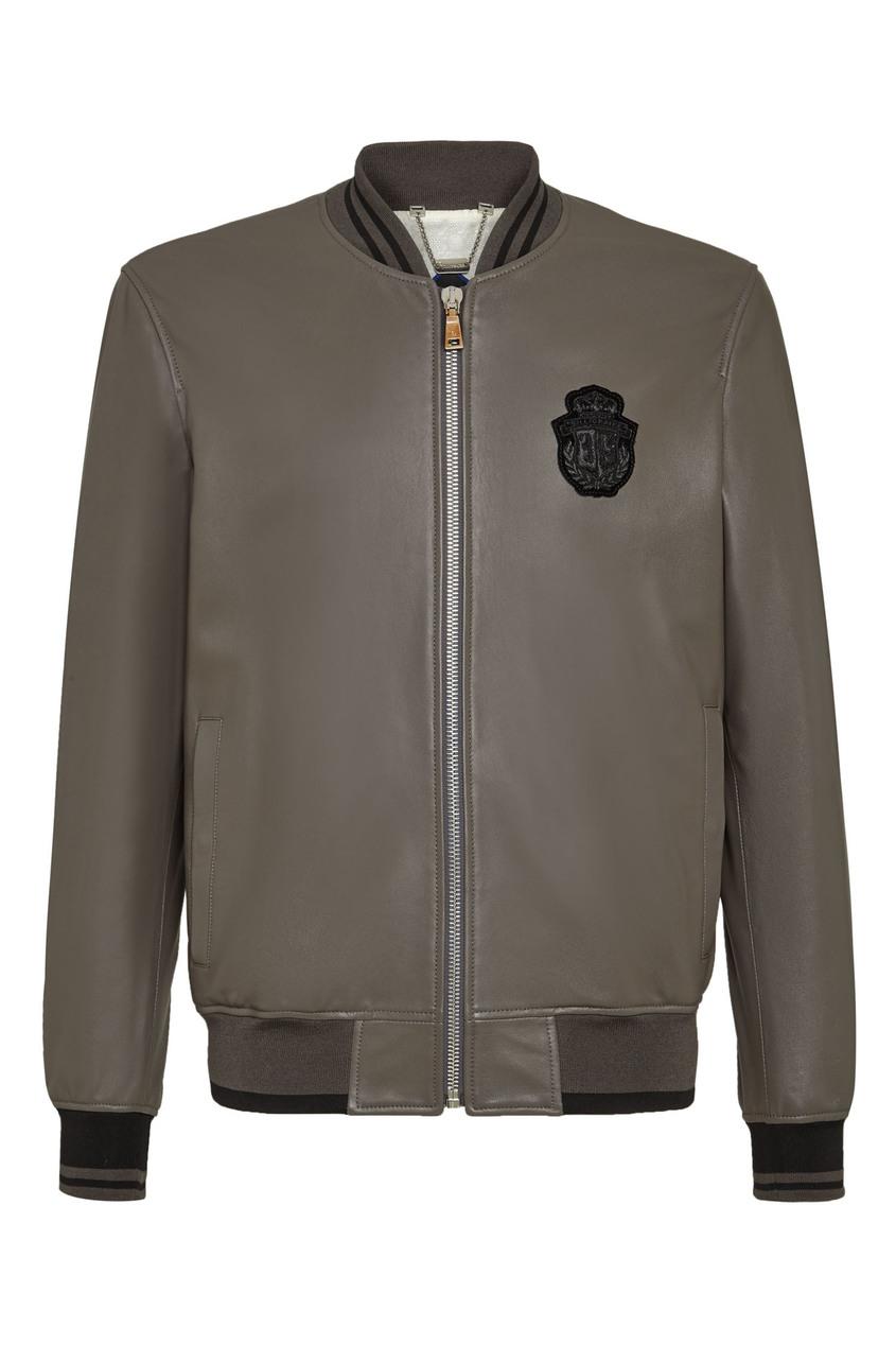 мужская куртка бомбер billionaire, серая