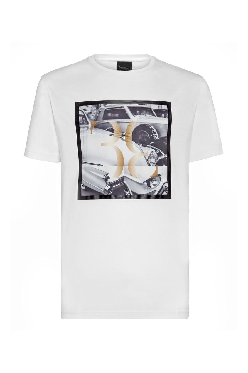 мужская футболка с рисунком billionaire, белая