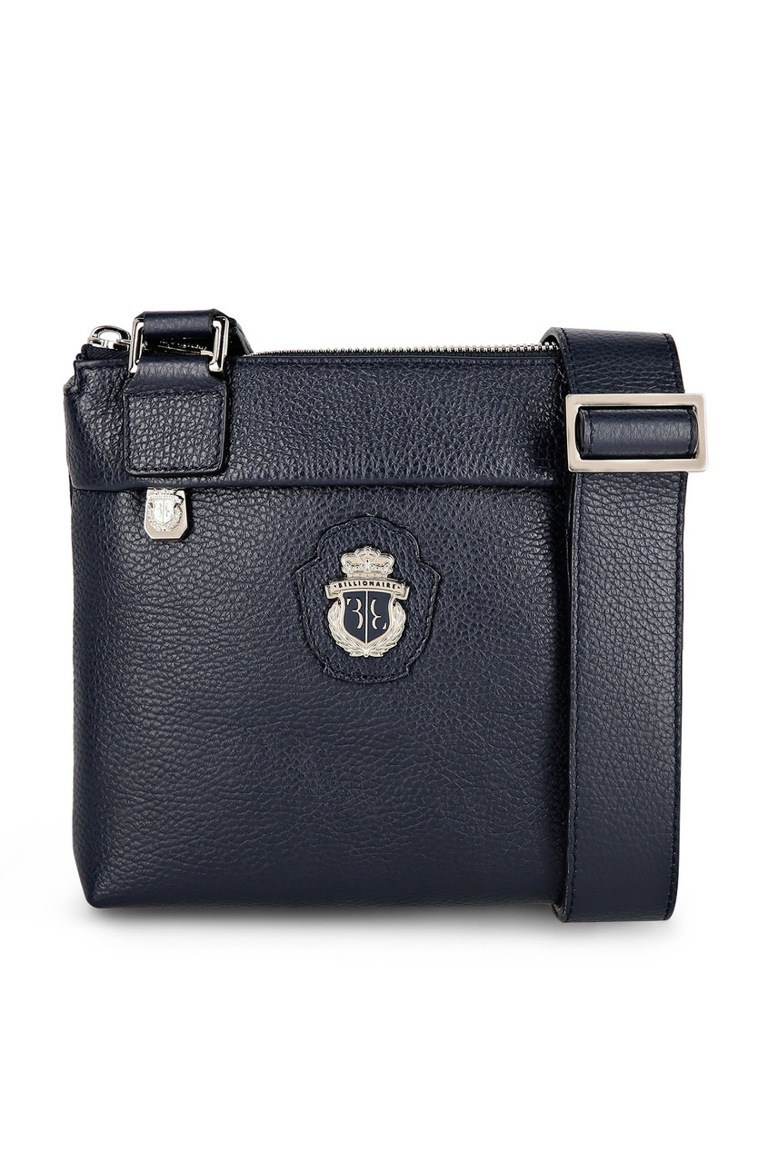 мужская кожаные сумка billionaire, синяя