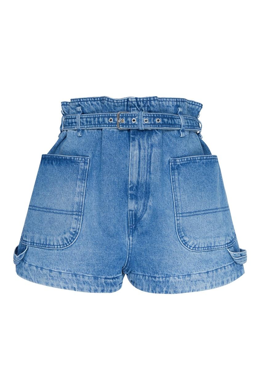 женские джинсовые шорты isabel marant, синие
