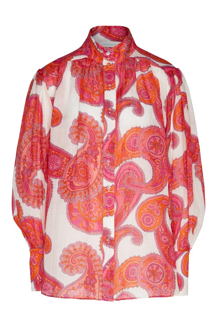 женская блузка zimmermann, красная