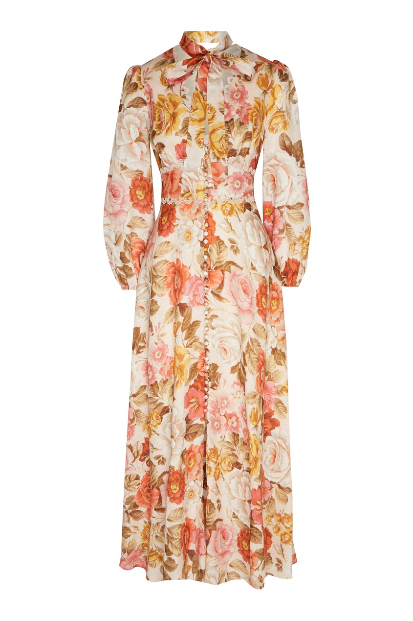 женское платье макси zimmermann