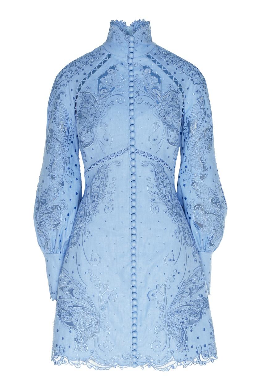 женское платье мини zimmermann, синее