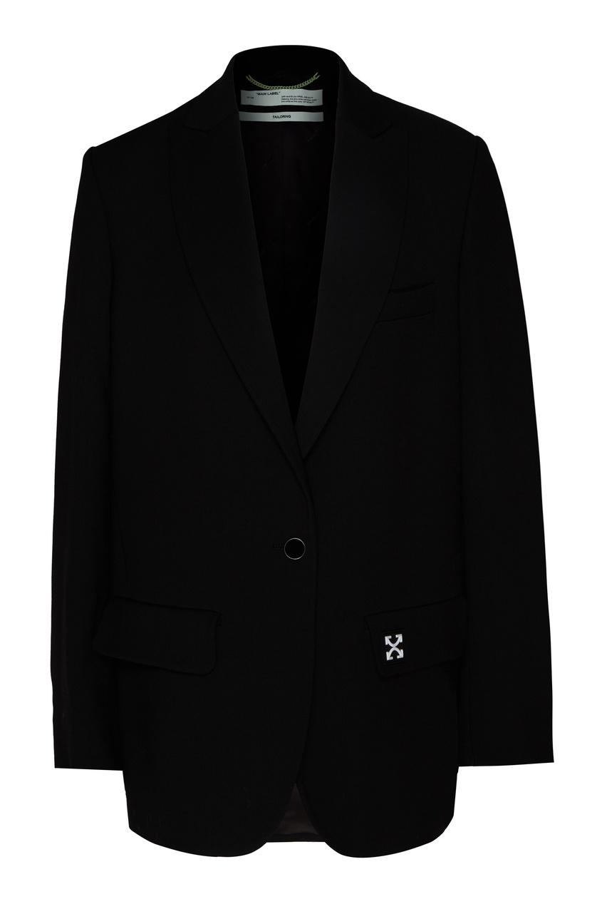 женский пиджак off-white, черный