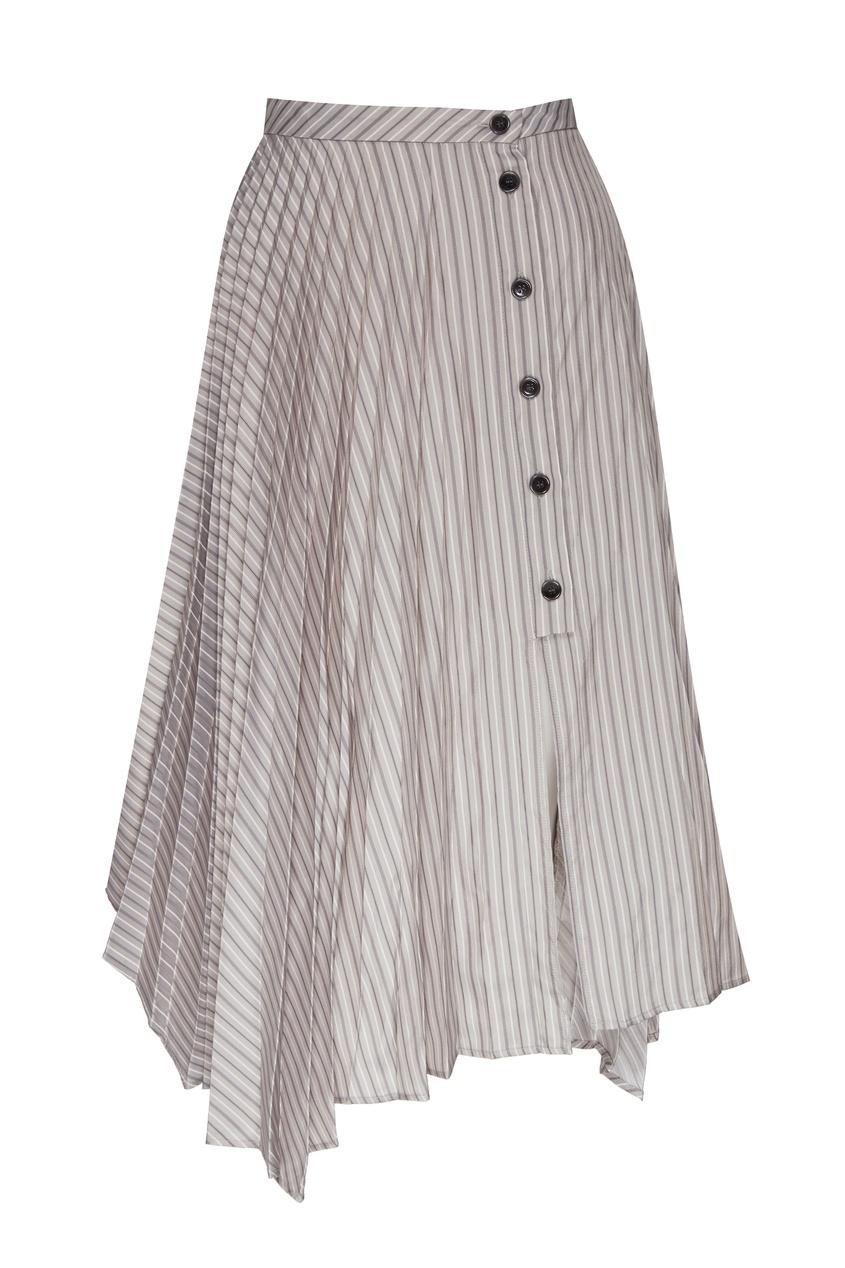 Ассиметричная плиссированная юбка