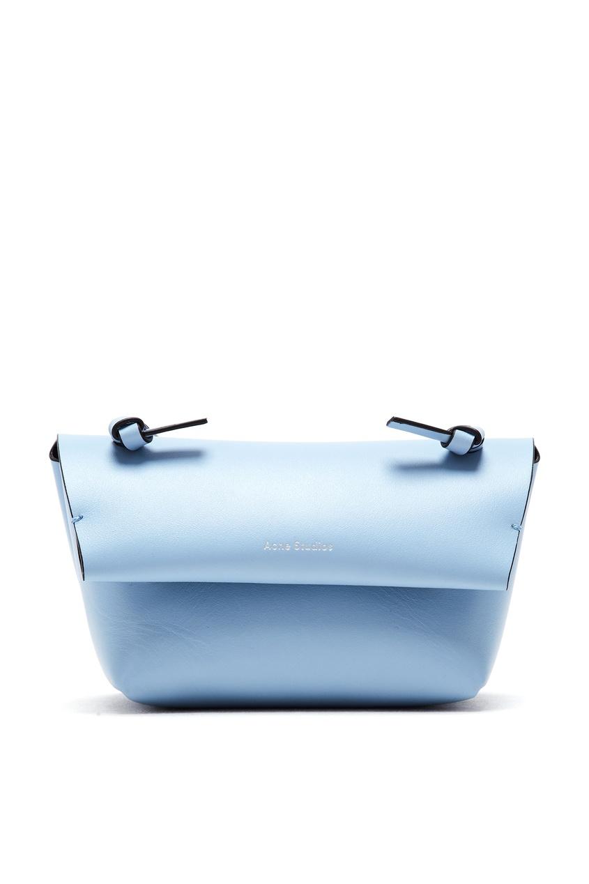 женская сумка acne studios, синяя