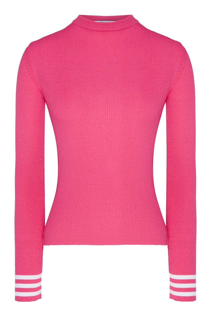 женский джемпер off-white, розовый