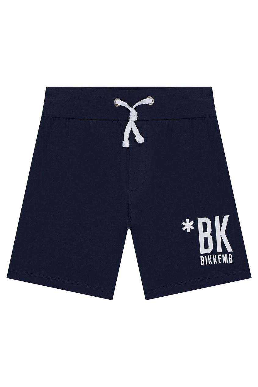 Синие шорты с надписью от Bikkembergs