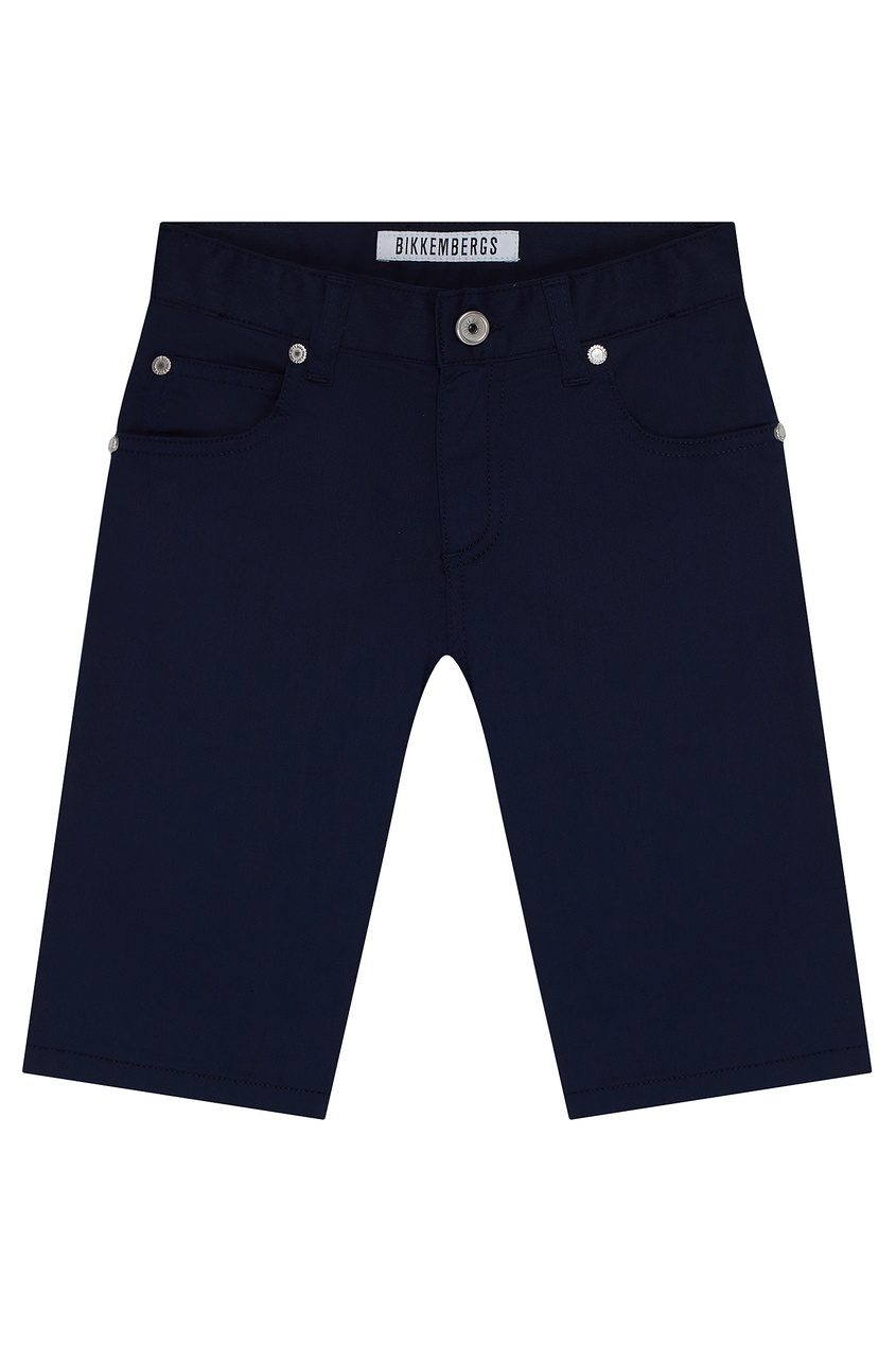Синие прямые шорты от Bikkembergs