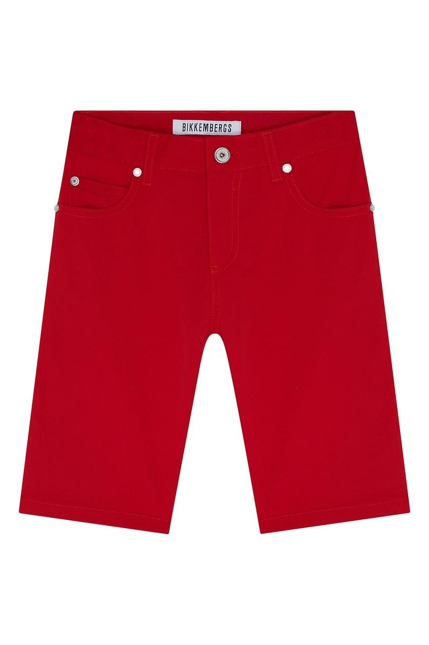 Красные хлопковые шорты от Bikkembergs
