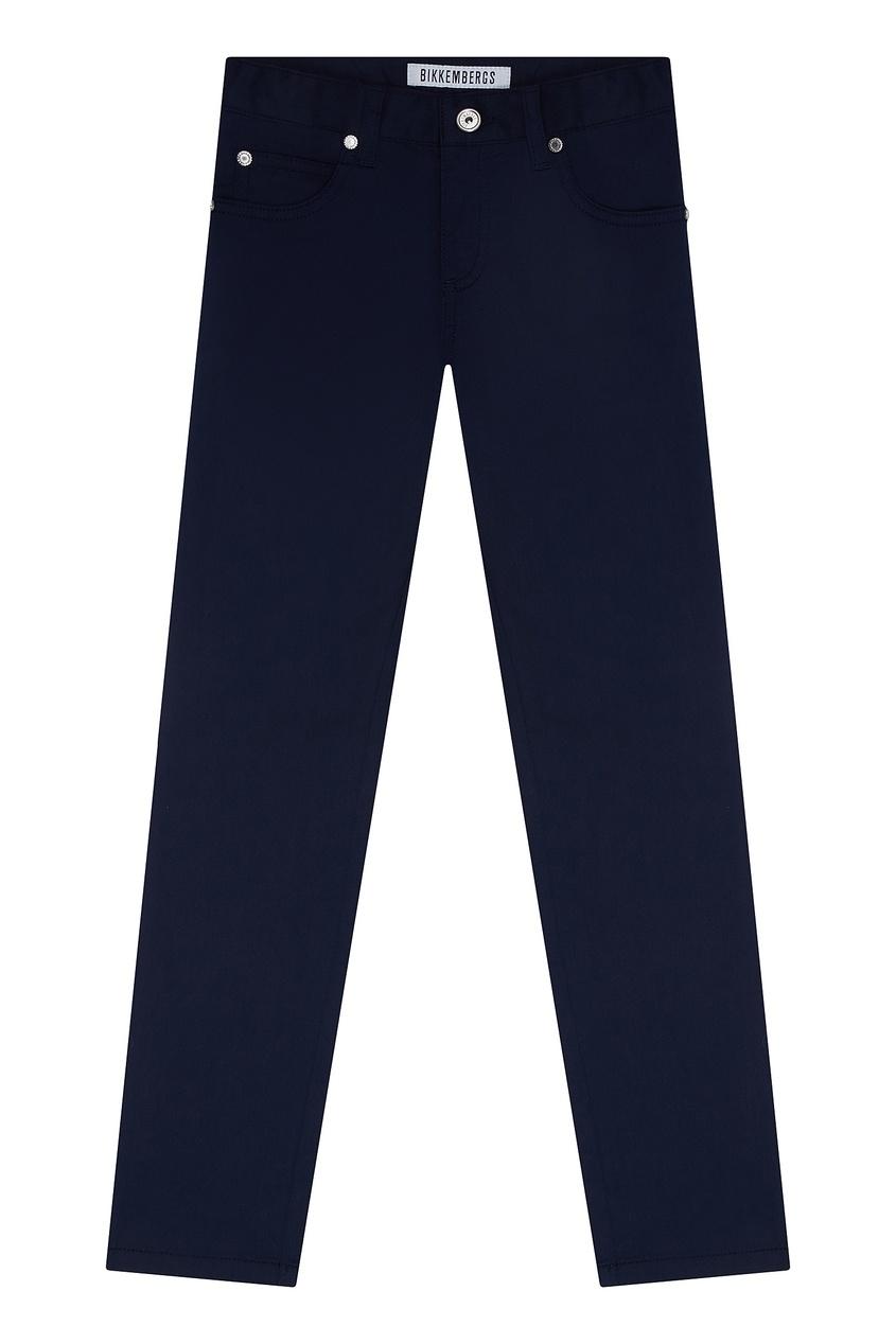 Прямые синие брюки Dirk Bikkembergs