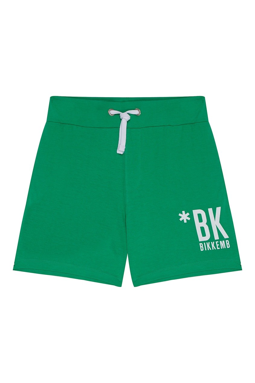 Зеленые трикотажные шорты от Bikkembergs