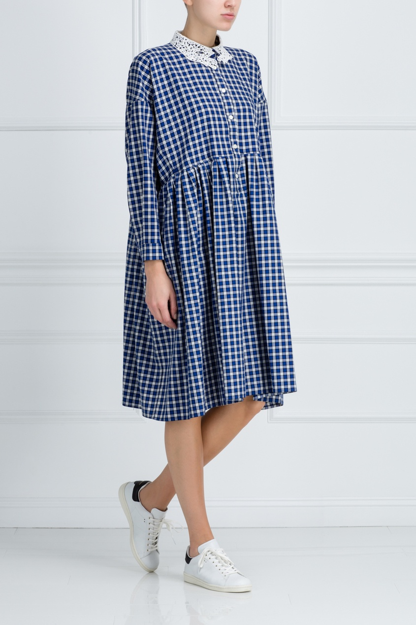 Платье из хлопка и шерсти Baudelaire