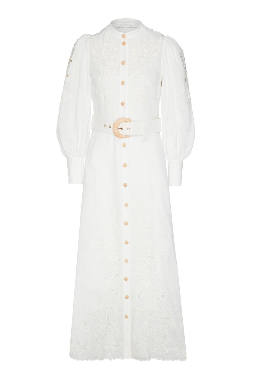 женское платье-рубашки zimmermann, бежевое