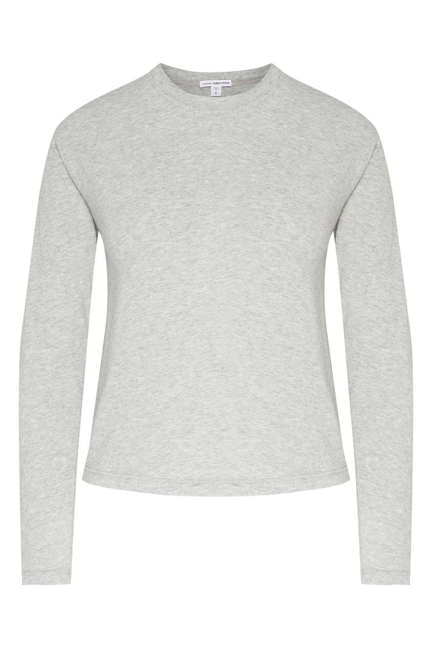 Серый меланжевый лонгслив James Perse серого цвета