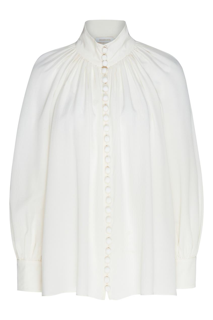 женская шелковые блузка zimmermann, бежевая