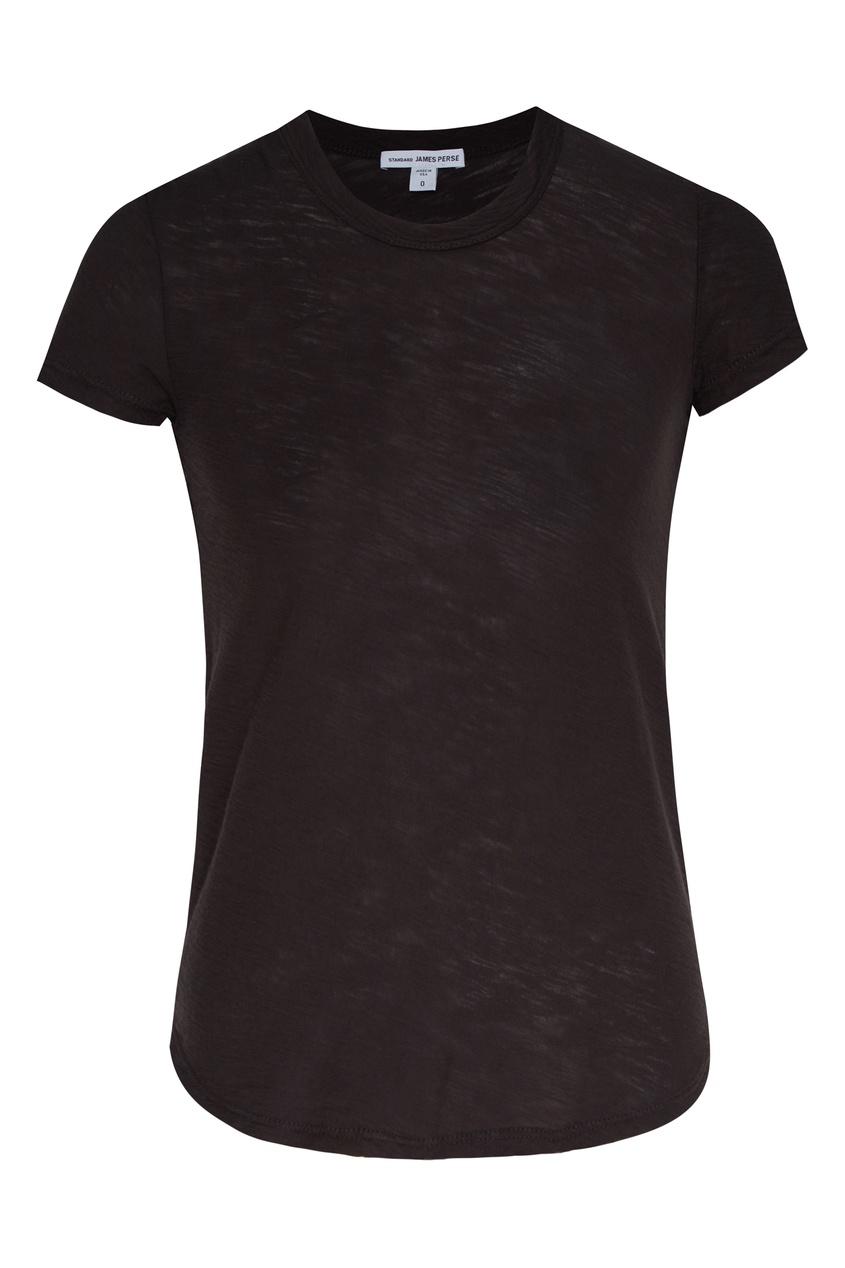Темно-серая хлопковая футболка James Perse серого цвета