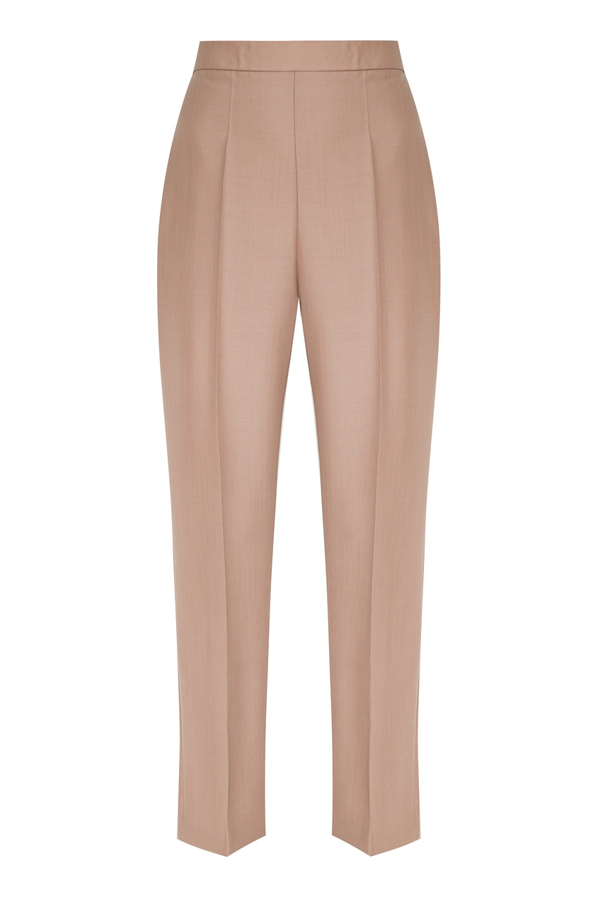 женские шерстяные брюки fendi, бежевые