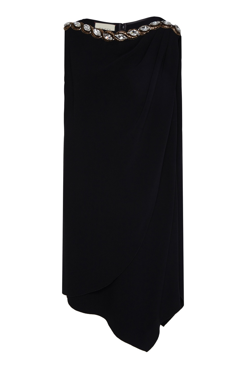 женская асимметричные туника gucci, черная