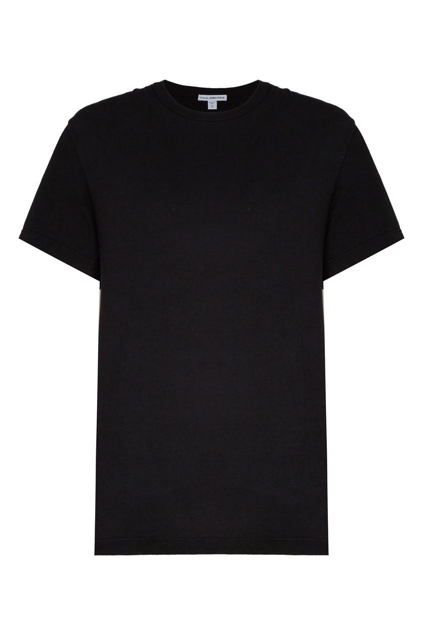 Черная футболка с круглым вырезом James Perse черного цвета