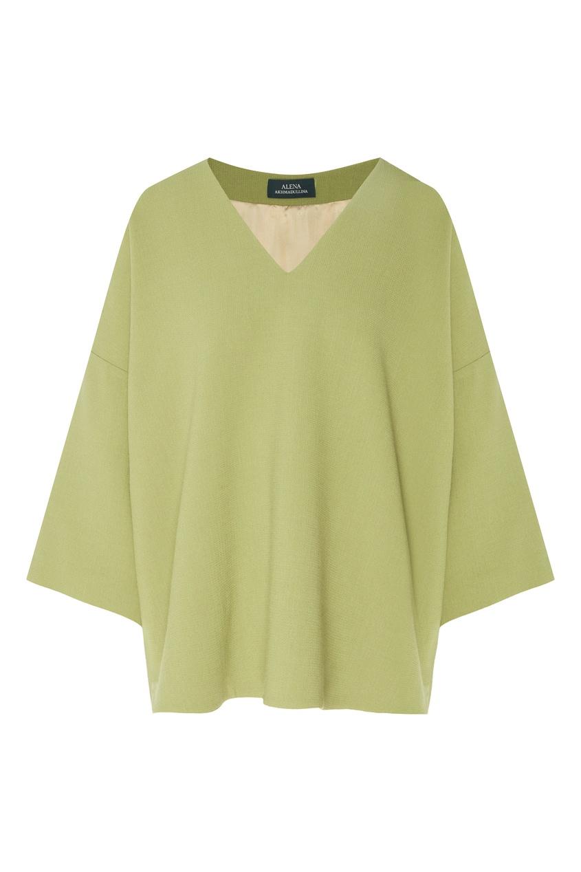 женский пуловер alena akhmadullina, зеленый