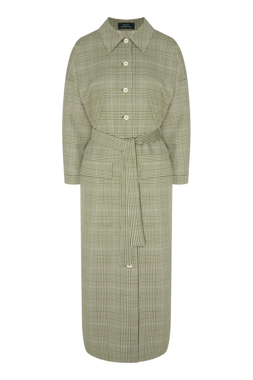 женское платье-рубашки alena akhmadullina, зеленое