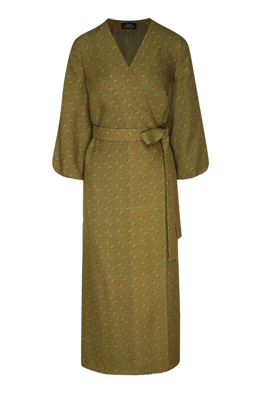 женское платье миди alena akhmadullina, зеленое