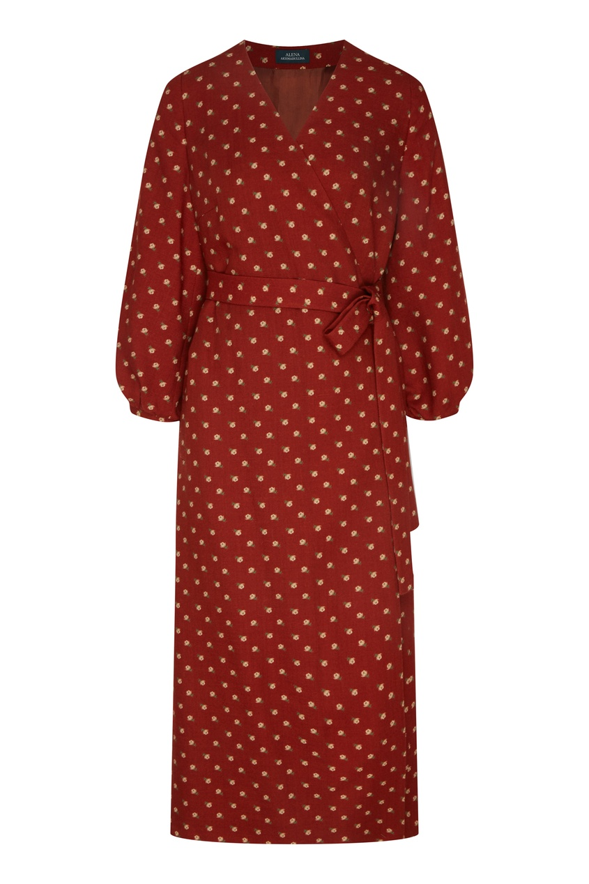 женское платье миди alena akhmadullina, бордовое