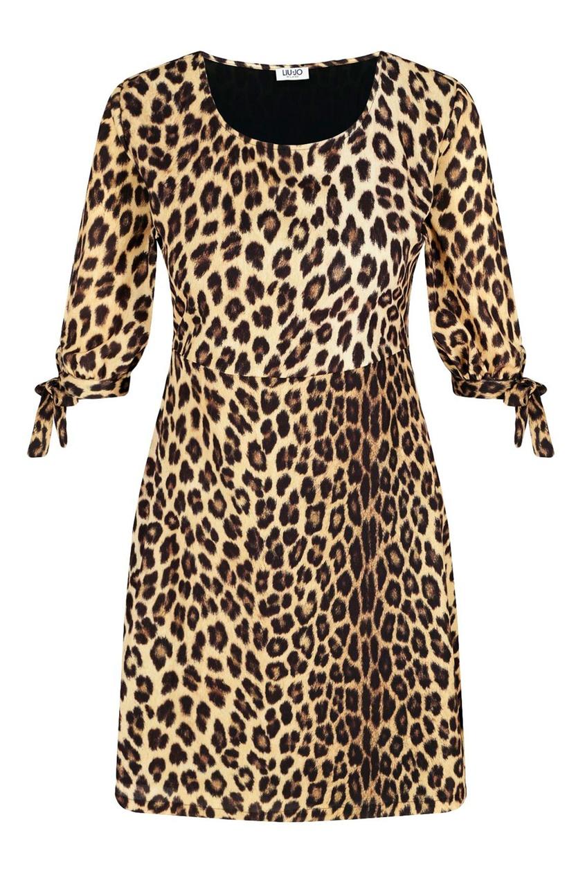 Платье с леопардовым принтом от Liu Jo