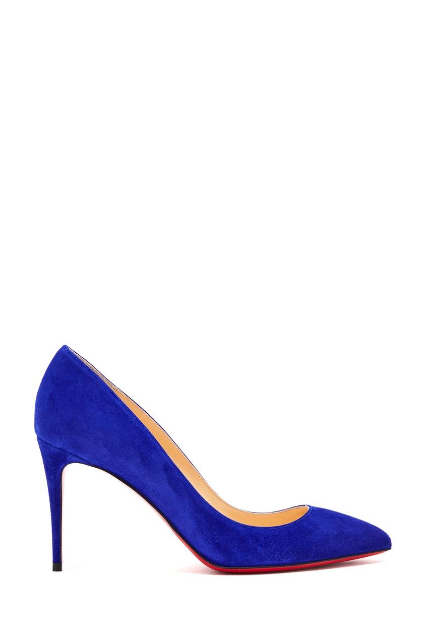женские туфли christian louboutin, синие