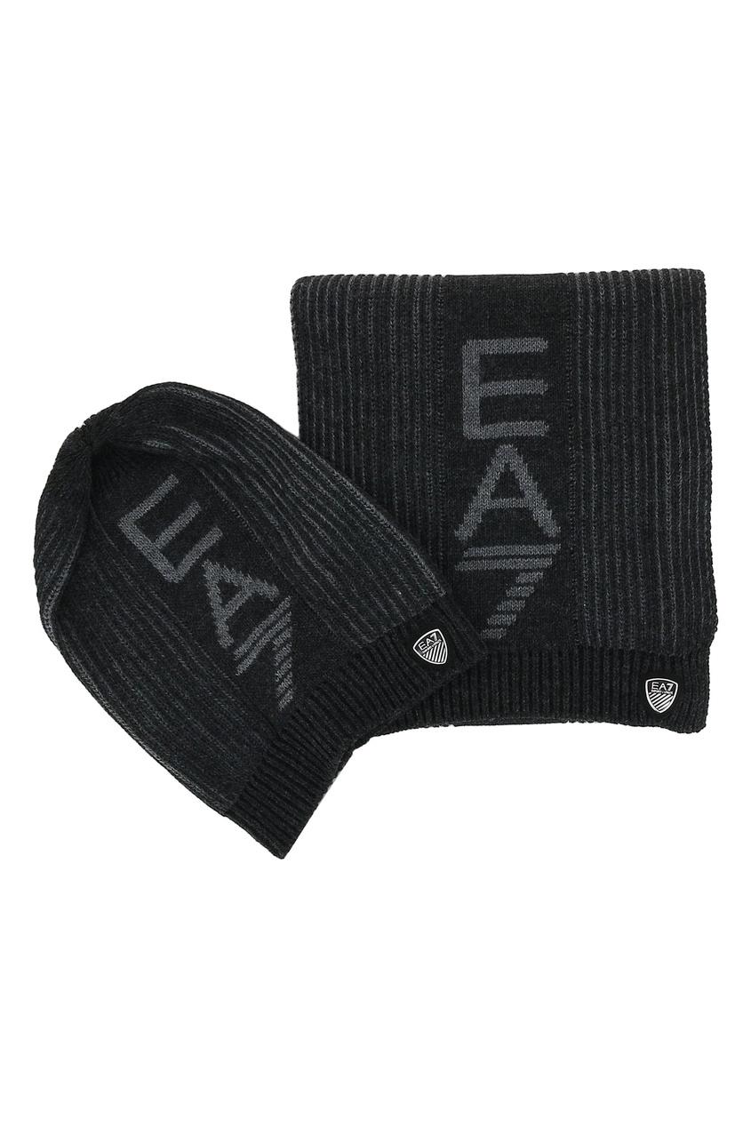 Комплект из шапки и шарфа от EA7